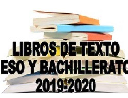 Libros de Texto curso 2019/2020 ESO y Bachillerato