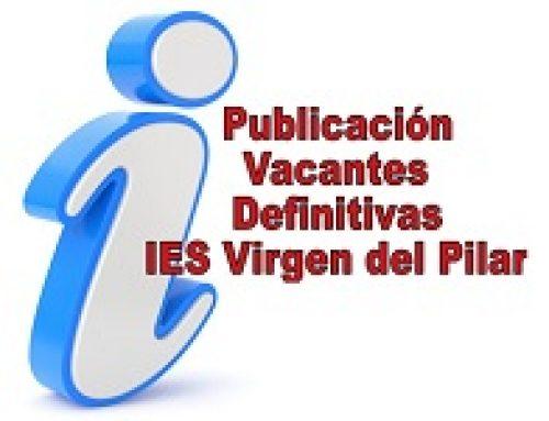 Listado definitivo de admitidos IES Virgen del Pilar