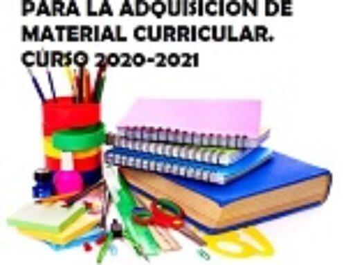 Becas material curricular – Curso 2020/21