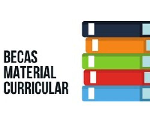 BECAS DE MATERIAL CURRICULAR
