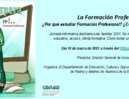 Webinar informativa sobre la Formación Profesional